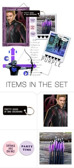 """She killed me twice in six months"" by elisabetta-negro ❤ liked on Polyvore featuring art, Avengers, marvel, comics and Hawkeye"