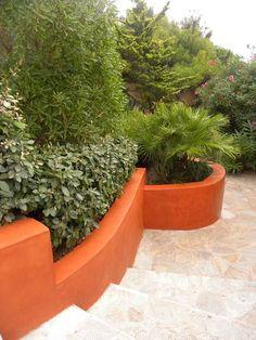 Murets et jardinières en béton ciré Matières Minérales