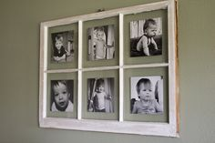 diyantiquewindowpictureframe_1 How to attach photos to an old window