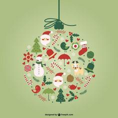 Vecteur de boule de Noël créatif