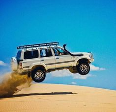 The mighty 80 series landcruiser getting high...