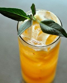 Tequila and tonic? Fresh muddled peach and a splash of Bénédictine help sweeten the deal. Photo by Aaron Cook.