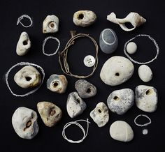 holey by wild goose chase, via Flickr...I love hagstones...it's good luck when you find them.