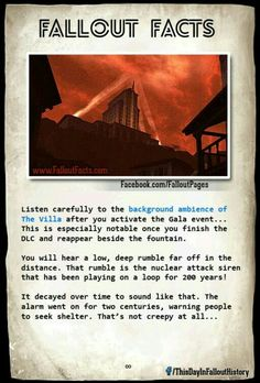 Fallout Facts Damn that is kinda freaky and chilling Fallout Lore, Fallout Facts, Fallout Fan Art, Fallout Funny, Fallout 3 New Vegas, Vault Dweller, Post Apocalypse, Elder Scrolls, Skyrim