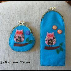 """#Artesanato, peças em feltro feitas à mão, porta-moedas, produtos caseiros, produtos portugueses, no #caseiropt por """"Feltro Por Rita"""", em Arcos de Valdevez"""