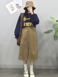 Pin by Alison Laferte on outfits Retro Outfits, Korean Outfits, Cute Outfits, Modest Fashion, Girl Fashion, Fashion Outfits, Womens Fashion, Korea Fashion, Asian Fashion