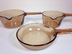 Corning Pyrex Visions Amber Lot | eBay