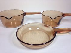 Corning Pyrex Visions Amber Lot   eBay