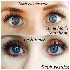 Check out the difference between the extensions and Lash Boost!  To me, Lash Boost is more natural looking without the time needed for an appointment!