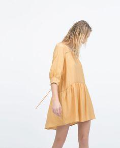 Image 3 of CREPE 3/3 SLEEVE DRESS from Zara