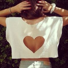 Cut out heart back tee. <3