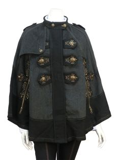 Arabesque embroidery cloak