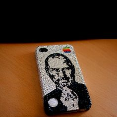 Jobs Swarovski Crystal iPhone case.  Gotta love this!