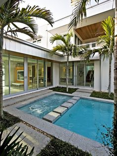 Modern Pool Landscape Midcentury Design, Pictures, Remodel, Decor and Ideas - page 10