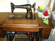 Aurora, my 1921 Red-eye Treadle. I love fixing old machines.