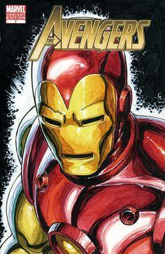 Classic Iron Man Avengers sketch cover by David Yardin Marvel Comics Superheroes, Marvel Art, Marvel Heroes, Marvel Avengers, Iron Man Kunst, Iron Man Art, Iron Man Avengers, Comic Book Covers, Comic Books Art