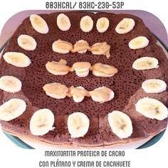 Maxi Tortita de cacao para desayunar  me encanta el plátano con crema de cacahuete