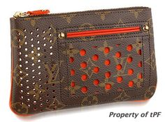 'perforated pochette plate orange' ... circa 2006 and definitely discontinued  (395)