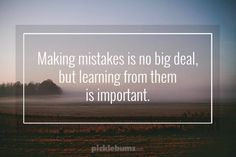 Making Mistakes...