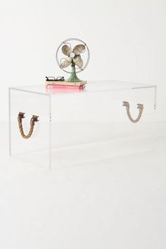 anything clear works in a small space // the illusion bench - buy it at anthropologie