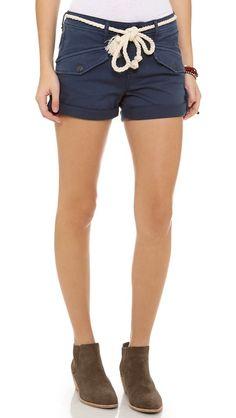 Free People Nautical Cuffed Shorts