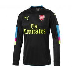 6886b1629 2016 2017 Arsenal Goalkeeper Shirt Long Sleeves Black Discount Purses