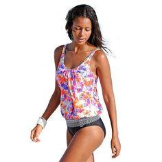 1bd6a09808f21 seauuu Floral Print Tankini-Seauuu Beach Swimsuits, Bikini Swimwear, Sexy  Bikini, Tankini