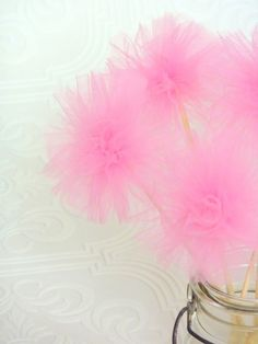 pom poms Carousel Themed Birthday, Birthday Party Themes, Diy Party Decorations, Baby Shower Decorations, Handmade Crafts, Diy Crafts, Tulle Poms, Ballerina Party, Tutu