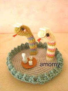 serpientes amigurumi pagina japonesa