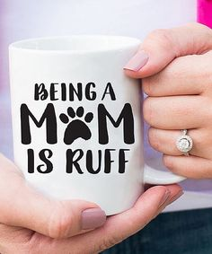 'Being a Dog Mom is Ruff' Mug #doginformation #DogAccesories