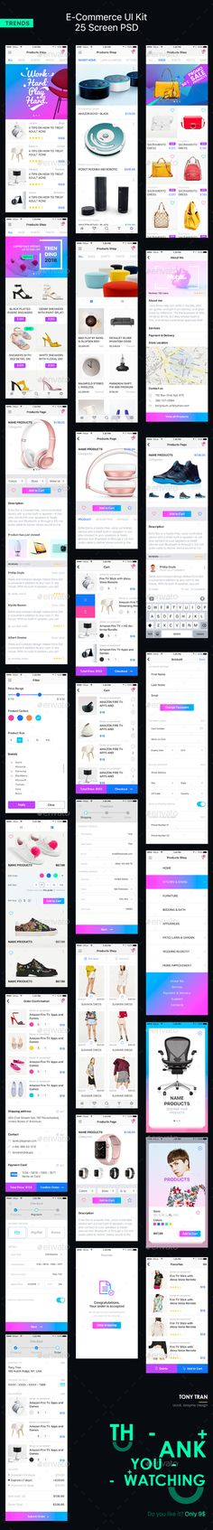 Mobile Theme UI Kit | E-Commerce - User Interfaces Web Elements