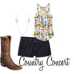 Summer Country Concert, created by alicat130 on Polyvore