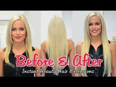 Best Before & After Hair Extensions Portfolio 2013 | Instant Beauty ♡