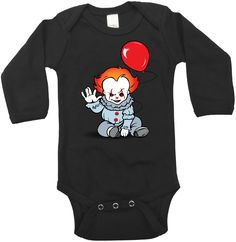 Halloween Baby Clothing- Pennywise - It - Halloween Outfit - Baby Clothing - Horror Clothing - Stephen King-Gift by babycalistyle on Etsy Halloween Outfits, Baby Halloween, Cute Babies, Baby Kids, Baby Baby, Baby Supplies, Cute Baby Clothes, Gothic Baby Clothes, Baby Fever