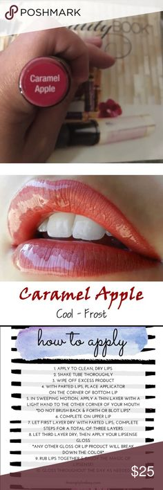 Lipsense Caramel Apple lip color Lipsense is the premier product of SeneGence and is unlike any conventional lipstick, stain or cold. As the original, patented, long-lasting lip color, it is kiss-proof, smudge-proof, water-proof, and won't smear or budge it is non gmo, gluten free, wax free, and not tested on animals. senegence Makeup Lip Balm & Gloss