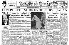 Newspaper Headlines, Enemies, World War Two, Two By Two, Lost, Peace, Japan, Twitter, World War Ii