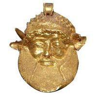 Achelous Head - Pendant From An Etruscan Necklace, Circa 480 BC, Possibly From Chuisi | Antique Jewelry University <3