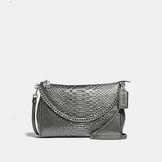 1adc6ce5a5d4f 🎀🎀 New Coach Carrie Crossbody Bag In Silver Python Embossed Leather  F35059 192643366350