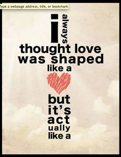 Love is shaped like a cross