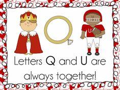 Mrs. Bremer's Kindergarten: 'Love Letters' Q and U...together forever