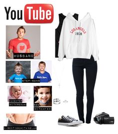 """Me as a ""Youtuber"""" by sunshineadrenaline ❤ liked on Polyvore featuring STELLA McCARTNEY, Univibe, Converse, Panasonic and Blue Nile"