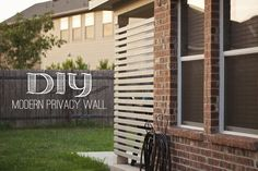 DIY Modern Privacy Wall for $30