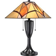Shop for Tiffany-style Sunrise Valiant Bronze Table Lamp. Get free delivery On EVERYTHING* Overstock - Your Online Lamps & Lamp Shades Store! Stained Glass Lamp Shades, Stained Glass Light, Stained Glass Designs, Stained Glass Projects, Stained Glass Windows, Leaded Glass, Mosaic Glass, Lampe Art Deco, Tiffany Table Lamps