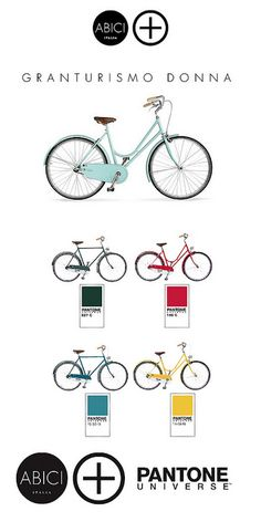 Bicycle bike cycle sykkel bicicleta vélo bicicletta rad racer wheels illustration posters graphics design biking ride cycling riding Pantone colour