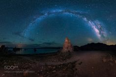 Milky Way Arch overseeing Mono Lake  Stitched with 21 shots..  Camera: Nikon D810 Lens: Nikon 14-24mm f/2.8  Join the Milky Way Group http://ift.tt/2sf2DTT and share your Milky Way creations or findings with the world! Image credit: http://ift.tt/2txp06h Don't forget to like the page or subscribe for more Milky Imagery!  #MilkyWay #Galaxy #Stars #Nightscape #Astrophotography #Astronomy