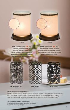 Scentsy 2014 Spring/Summer Shadow Collection inserts New for Spring 2014 available 3/1/2014 https://www.facebook.com/lovewickless.elisesotelo