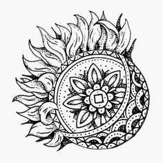 Sun Moon sketch tattoo - Alexei Patrascu