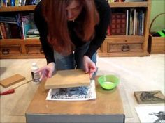 ▶ Lino Demo #1 - how to transfer an image onto a lino block.wmv - YouTube