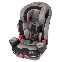 Evenflo Maestro Harness Booster Car Seat Thunder Black