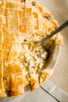Paula+Deen+Gobbler+Cobbler+Pie ~ Great idea for left over turkey! Thanksgiving Recipes, Fall Recipes, Holiday Recipes, Great Recipes, Favorite Recipes, Thanksgiving Turkey, Pie Recipes, Chicken Recipes, Cooking Recipes
